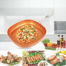 20 24 26 28 Non-Stick Copper Frying Pan Square Circle Aluminum Frying Pan