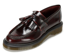 Dr Martens Tassel Loafer - Adrian Arcadia Cherry Red Smooth Leather Shoes UK 3-9