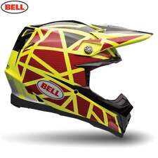 Bell Mx 2017 moto-9 Cable Adulto Motocross Enduro Casco - Atado amarillo / Rojo