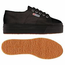 SUPERGA SCARPE DONNA CON ZEPPA NERA 2790 acotw  up and down S0001L0 FULL BLACK