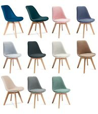 Vintage Tulip New Retro Style Dining Chair With Solid Wooden Legs Hugo