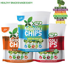 X50 Broccoli Chips Healthy Snacks Vacuum Fried  Gluten Free Alkalising Crisp