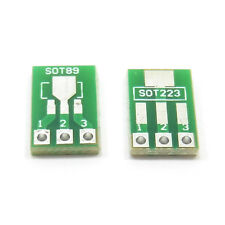 Double Sided SOT89 to DIP SOT223 2.54mm Pitch Pin PCB Board Converter Adapter