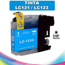 TINTA CIAN LC-121 LC-123 COMPATIBLE NONOEM BROTHER CARTUCHO CYAN LC121 LC123