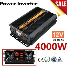 Pro Power Inverter Charger Converter LCD Display For Car Home 12V DC to 220V XH