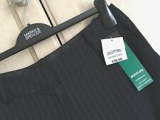 RRP £39.50 LADIES M&S SIZE 12 LONG NAVY SOFT STRETCH BOOTLEG TROUSERS FREE POST
