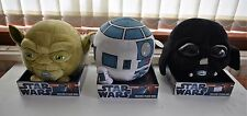 DISNEY STAR WARS SOFT TOY TALKING HEAD BALLS R2D2 YODA Or DARTH VADER DECORATION