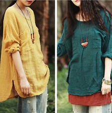 Women Fashion Long Sleeve T-shirt Ladies Casual Loose Baggy Tops Blouse Tops New