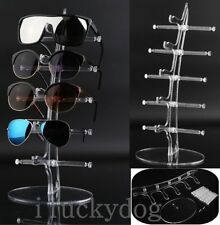 Plastic 5 Pair Sunglasses Glasses Show Rack Counter Display Stand Holder B1