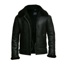 Mens Real Sheepskin Leather Jackets mens Sheepskin Jackets mens aviator jacket