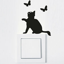 ADHESIVO INTERRUPTOR LUZ Gato Pegatina Pared tomacorriente FUN ANIMAL 995
