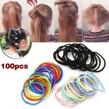 100 Pcs Hair ties Kids Girl Elastic Hair Bands Ponytail Holder Head Rope Ties