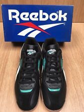 REEBOK Vintage HAMMER SUEDE INDOOR SOCCER SHOES Mens and Kids Black/White/Green
