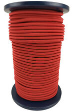8mm RED - ELASTIC BUNGEE ROPE SHOCK CORD TIE DOWN SURVIVAL ARMY MILITARY