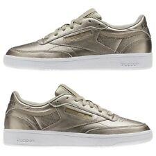 SCARPE REEBOK CLASSIC CLUB 85 LEATHER MELTED METAL GRIGIO / BIANCO, DONNA