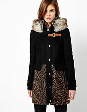 New KAREN MILLEN Leopard BNWT Animal Print Fur Evening Spring Autumn Winter Coat