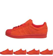 FASHIONS adidas Originals Mens Superstar RT Perf Suede Trainers Red/Red/Red UK