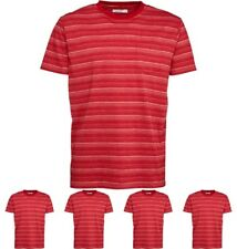 DI MODA Onfire Mens Striped T-Shirt Red Small Chest 38""