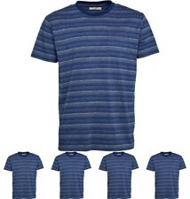 DI MODA Onfire Mens Striped T-Shirt Navy Small Chest 38""