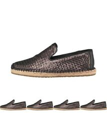 MODA UGG Womens Sandrinne Metallic Baskets Espadrilles Black UK 3.5 Euro 36