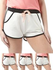 FASHIONS Brave Soul Womens Linford Running Shorts Cream/Black/Coral UK 8 Euro 3