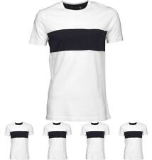 OFFERTA French Connection Mens Single Stripe Pocket T-Shirt White Small Chest 3