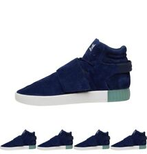 DI MODA adidas Originals Mens Tubular Invader Strap Trainers Dark Blue/Aqua UK