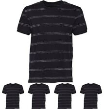 FASHION Peter Werth Mens Mount Dot Stripe T-Shirt Navy Small Chest 35-37""