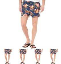 """BRAND French Connection Mens Floral 2 Swim Shorts Blue Floral X-Small Waist 28"""""""