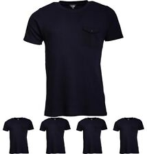 """OFFERTA Fluid Mens Waffle T-Shirt with Chest Pocket Navy X-Small Chest 34-36"""""""