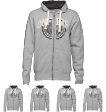 DI MODA Onfire Mens Zip Through Hoody Grey Marl Small Chest 38""
