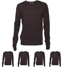 DI MODA Onfire Mens Crew Neck Sweater Charcoal Marl Small Chest 38""