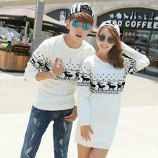 Christmas Couple Sweaters Valentine's Day Lover Couples Sweater Winter Elk Shirt