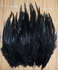 """Fly Tying Saddle Hackle feathers average 4""""  25 bag 10cols pike bass streamers"""