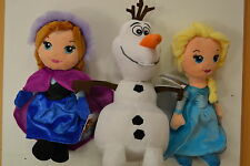 DISNEY FROZEN CHARACTERS ELSA OLAF or ANNA SOFT TOY