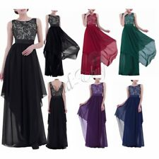 Women's Long Maxi Evening Bridesmaid Formal Cocktail Prom Party Ball Gown Dress