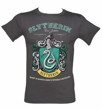 Official Men's Charcoal Harry Potter Slytherin Team Quidditch T-Shirt