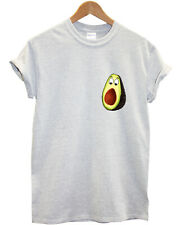 Funny Avocado T-Shirt Pocket Print Logo Mens Womens Kids Vegan Veganism Food L87