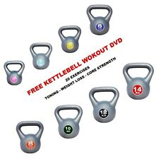 Kettlebells Fitness Training weights 4-6-8-10-12kg Kettlebell FREE WORKOUT DVDs