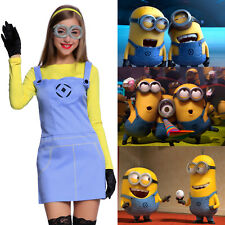 COSPLAY COSTUME DONNA VESTITO DA MINIONS DESPICABLE ME CATTIVISSIMO ME HALLOWEEN