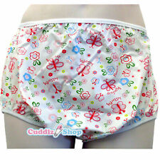 Cuddlz Adult Size Butterfly Pink Pull Up PVC Plastic Pants Incontinence Briefs