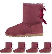 BRAND UGG Girls Baily Bow Boots Bougainvillea UK 1 Euro 32