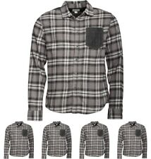 OFFERTA Converse Mens Heavy Flannel Contrast Pocket Checked Long Sleeve Shirt C