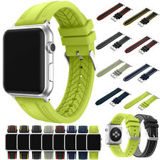 Sports Silicone iWatch Bracelet Strap For Apple Watch Band Series 1/2 38/42MM