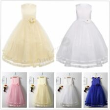 Flower Girl Princess Dress Kid Party Pageant Wedding Bridesmaid Tulle Dresses