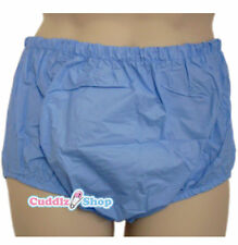 Cuddlz Adult Size Blue Pull Up PVC Plastic Pants Incontinence Briefs