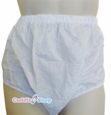 Cuddlz Adult Size White Pull Up PVC Plastic Pants Incontinence Briefs
