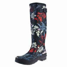 Joules French Navy Fay Floral Womens Welly