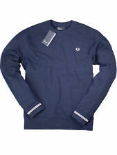 Fred Perry Sweatshirt Pullover Rundhals M2599 266 Carbon Blue / Crew Neck #7247