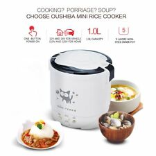 OUSHIBA 1L Mini Rice Cooker Electric Rice Cooker Cute Pattern Auto Rice Cooker O